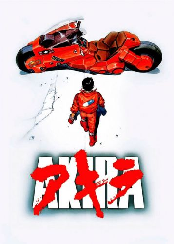 AKIRA - BIKE WHITE - Portrait canvas print - self adhesive poster - photo print